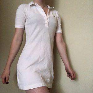 Lacoste XS collard white dress